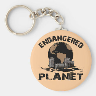 ENDANGERED PLANET BASIC ROUND BUTTON KEY RING