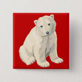 Endangered Polar Bear 15 Cm Square Badge