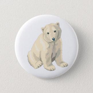 Endangered Polar Bear 6 Cm Round Badge
