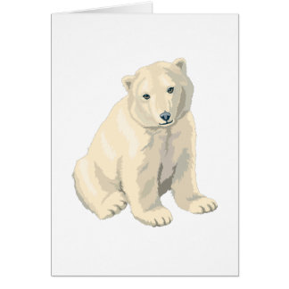 Endangered Polar Bear Card