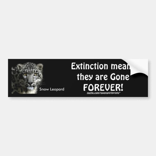 ENDANGERED SNOW LEOPARD  Bumper Stickers