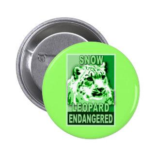 Endangered Snow Leopard Pop Art Tshirts 6 Cm Round Badge
