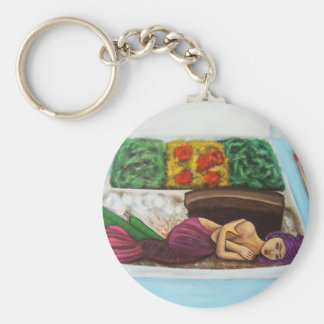 Endangered Species Basic Round Button Key Ring
