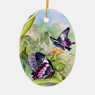Endangered Tropical Butterflies Fine Art Christmas Ornament