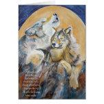 Endangered Wolf Inspirational Card Howling Wolf