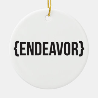 Endeavor - Bracketed - Black and White Christmas Ornament