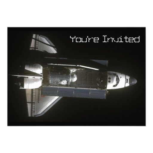 Endeavour Brings Tranquility Personalized Invitations