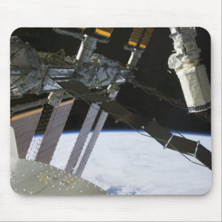 Endeavour's arm amidst International Space Stat Mouse Pad