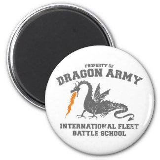 ender dragon army 6 cm round magnet