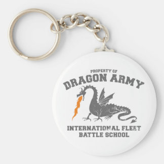 ender dragon army basic round button key ring