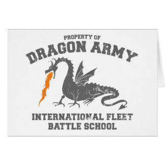 ender dragon army - ender s game greeting card