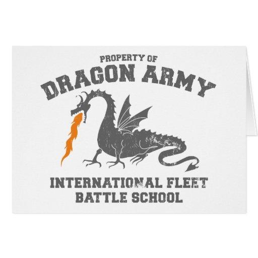 ender dragon army - ender's game greeting card