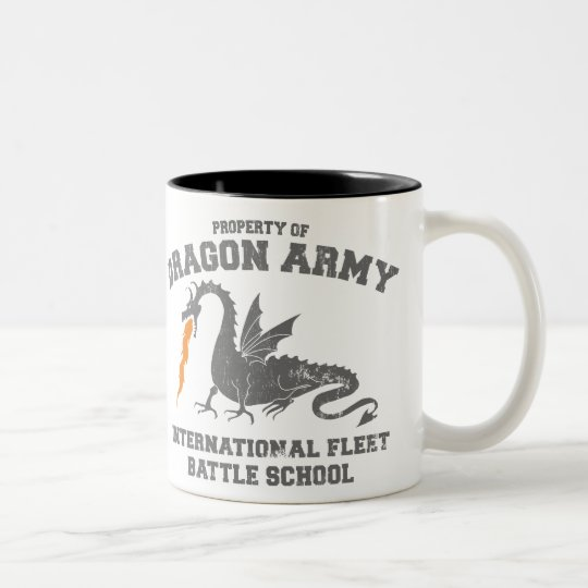 ender dragon army Two-Tone coffee mug