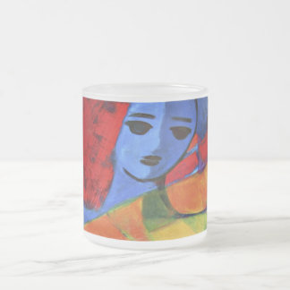endless bliss frosted glass mug
