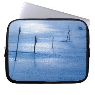 Endless blue ice laptop sleeve