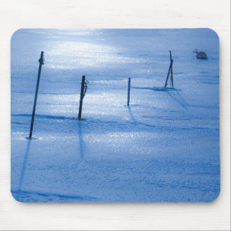 Endless blue ice mouse pads