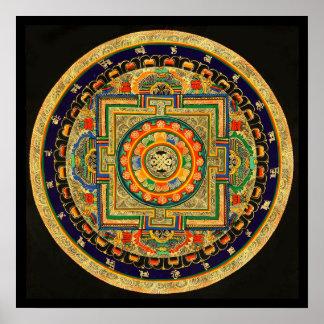 Endless Knot (Ashtamangala) Mandala Poster