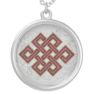 Endless Knot Round Pendant Necklace