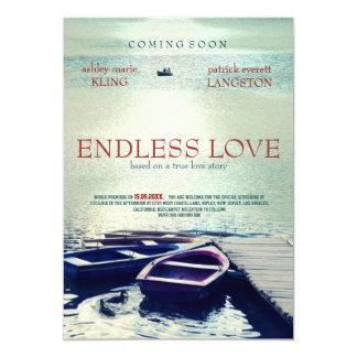 ENDLESS LOVE movie poster style 13 Cm X 18 Cm Invitation Card