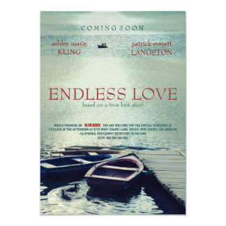 ENDLESS LOVE poster movie style 13 Cm X 18 Cm Invitation Card