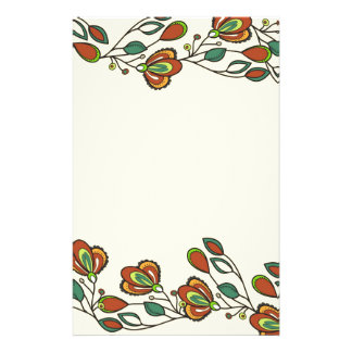 endless pattern with flowers stationery