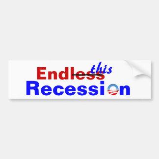 Endless Recession Bumper Sticker