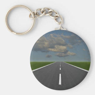 endless road basic round button key ring