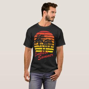 67c2e6be4cf Endless Summer 80s Tropical Sunset T-Shirt