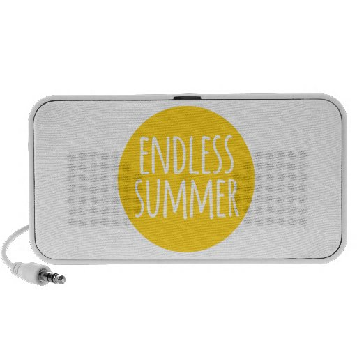 Endless summer, word art, text design with sun iPhone speakers