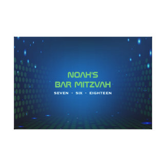 ENDLESS VIDEO GAMING Bar Mitzvah Sign In Board Canvas Print