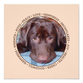 Endless Wishes Pet Photo Holiday Card 13 Cm X 13 Cm Square Invitation Card