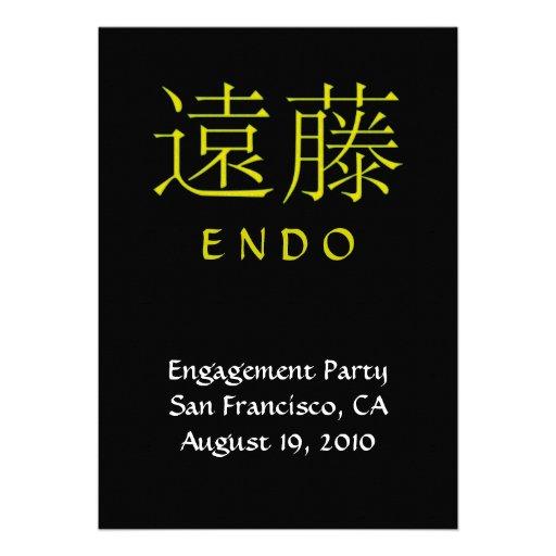 Endo Monogram Invite