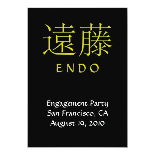 """Endo Monogram Invite 5"""" X 7"""" Invitation Card"""