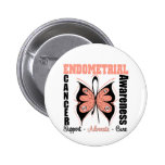Endometrial Awareness Butterfly 6 Cm Round Badge