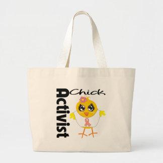Endometrial Cancer Activist Chick Canvas Bags