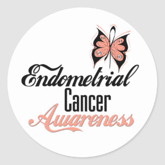 Endometrial Cancer Awareness Butterfly Stickers