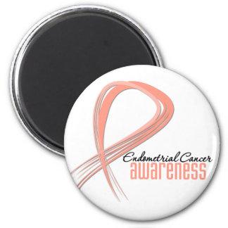 Endometrial Cancer Awareness Grunge Ribbon Fridge Magnets