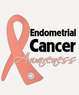Endometrial Cancer Awareness Ribbon T-shirts