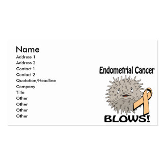 Endometrial Cancer Blows Awareness Design Pack Of Standard Business Cards