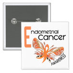Endometrial Cancer BUTTERFLY 3.1 15 Cm Square Badge