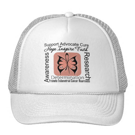 Endometrial Cancer Butterfly Inspirations Trucker Hats