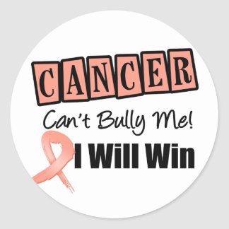Endometrial Cancer Cant Bully Me I Will Win Round Stickers