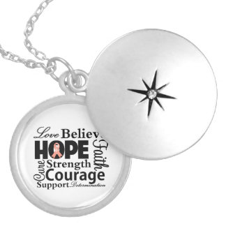 Endometrial Cancer Collage of Hope Locket
