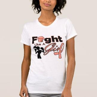Endometrial Cancer Fight Like A Girl Silhouette Tshirts