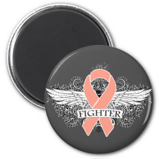 Endometrial Cancer Fighter Wings 6 Cm Round Magnet