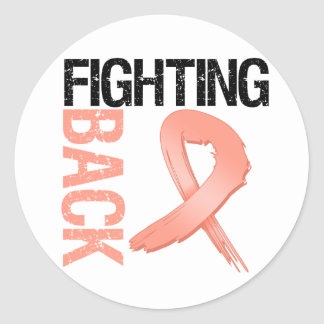 Endometrial Cancer Fighting Back Sticker