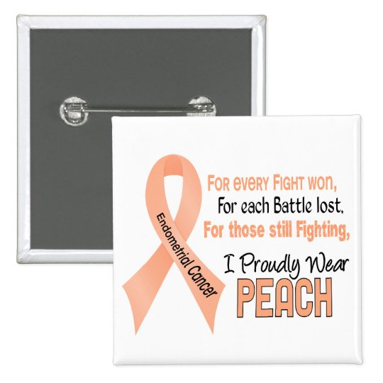 Endometrial Cancer For Every…..I Proudly Wear Peac 15 Cm Square Badge