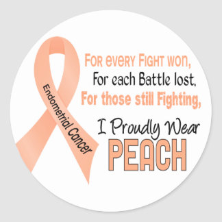 Endometrial Cancer For Every…..I Proudly Wear Peac Classic Round Sticker