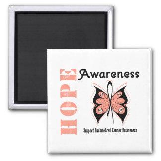 Endometrial Cancer Hope Awareness Fridge Magnet