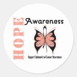Endometrial Cancer Hope Awareness Round Sticker